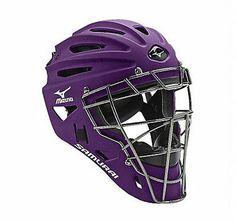 Mizuno Samurai Youth Baseball & Softball Catcher's Helmet PURPLE 380192-PR NEW
