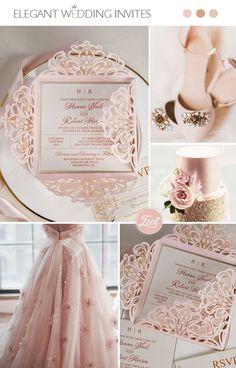 Have you chosen pink wedding flowers or pink bridesmaid dresses for your wedding? Why not consider setting the whole mood for your big day with pink wedding Wedding Themes, Wedding Designs, Wedding Cards, Wedding Decorations, Wedding Dresses, Lace Dresses, Wedding Color Schemes, Wedding Colors, Dream Wedding