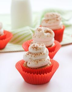 Pumpkin Cupcakes with Cream Cheese Frosting use a cake mix for simplicity. Simple and delicious.