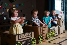 How beautiful are these biscuits and party packs from sambellinas party Love this cardboard train from the Birthday Girl blog And wouldn't this idea (from OhDeeDoh) be great for the entrance …