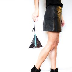 Reptile Pyramid Leather Clutch // Black Teal by gmaloudesigns