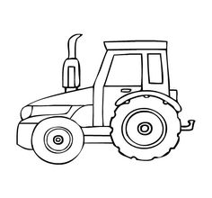 Top 25 Free Printable Tractor Coloring Pages Online | Pinterest ...