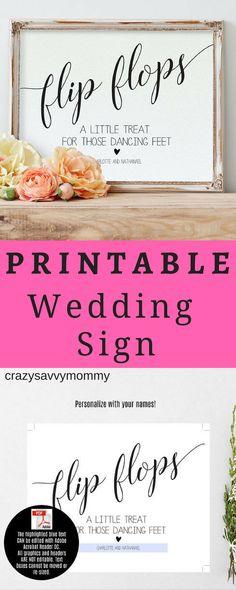 4dce8644e2875e PRINTABLE Wedding Sign. Flip Flop wedding sign