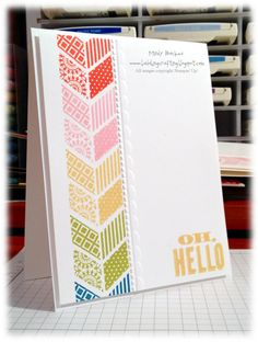 Stampin' Up! CAS  by Mindy Backes at Bada-Bing! Paper-Crafting!: Oh, Hello