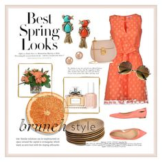 """Brunch"" by fancy-chic ❤ liked on Polyvore featuring H&M, Bloomingdale's, NKUKU, Sergio Rossi, Essie, Blugirl Folies, Chloé, Christian Dior and Betsey Johnson"