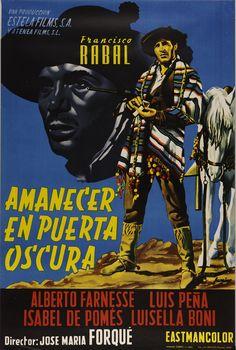 """""""Amanecer en puerta oscura"""", José María Forqué, 1957. Con Francisco Rabal, Luis Peña... http://estelafilms.com/pelicula.php?url=amanecer-en-puerta-oscura"""