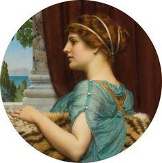 John William Godward  A pompeian lady, 1904