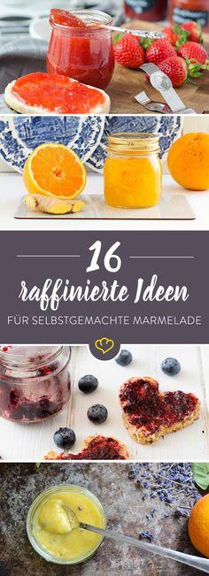 Erdbeere, Blaubeere, Holunderblüte, mit Sekt oder buntem Obstmix - mach dir Marmelade, wie sie dir gefällt! Wir haben für dich 16 raffinierte Rezeptideen.