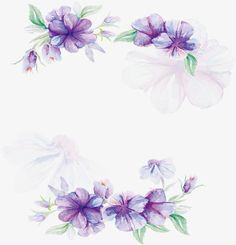 акварель фиолетовые цветы плакат, вектор Png, акварель растений, акварель цветыPNG и вектор