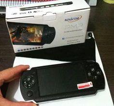 video game portátil multimedia 10000 jogos novacom pmp a-10