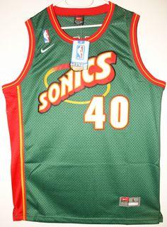 Nike NBA Basketball Seattle Sonics Trikot Jersey Size 44 - Größe L - 129 8f5a2847b