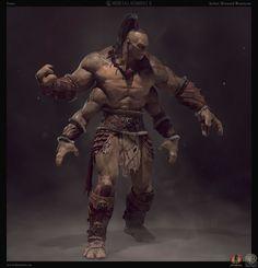Mortal Kombat X - Goro, Bernard Beneteau on ArtStation at https://www.artstation.com/artwork/mortal-kombat-x-goro: