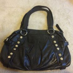 B. Makowsky black leather shoulder bag Beautiful B. Makowsky Black leather shoulder bag with silver stud accents and silver hardware. Pocket on front and back of bag and organizational pockets inside. Great bag in excellent condition! b. makowsky Bags Shoulder Bags