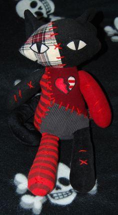 emily strange patchwork strange kitty plush