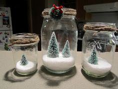 I adore these mini christmas trees in the jars. Gonna have to make some this year