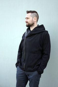 XL Męski dzianinowy sweter z kapturem - NavahoMen - NavahoMen - Swetry męskie