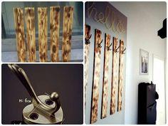 """Dank der Inspiration von sbastelkistle.blogspot.de, der Schöner Wohnen Trendfarbe """"Moon"""" und den schönen Wandhaken vom DaWanda-Shop """"Lilly-of-the-Valley-love"""" ist mein Flur nun auch etwas einladender :) - home sweet home <3 #DIY #Warderobe #wood #homesweethome"""