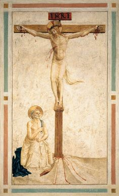 1442 - Crucifixion with St. Dominic Flagellating Himself - Fra Angelico