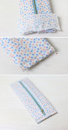 Cómo hacer bolsitas con retazos de tela ~ Solountip.com Bag Pattern Free, Bag Patterns To Sew, Dress Sewing Patterns, Zipper Pouch Tutorial, Diy Wallet, Diy Scarf, Craft Bags, Sewing Projects For Beginners, Zipper Bags