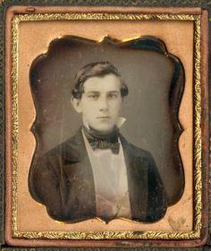 Hot Vintage Men: Ambrotype of a Handsome Young Gentleman