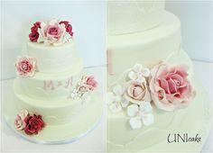 H25.  Ruusuja hääjuhlaan. Hääkakku.  Rose wedding cake