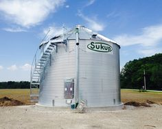 27' X 5 ring Sukup Grain Bin with Vertical Unload. Built by Devolder Farms