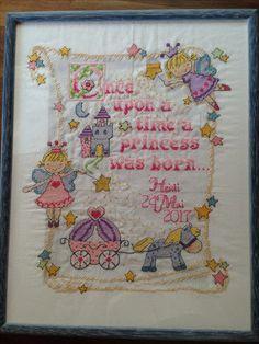 Cross stitch - babygirl, princess