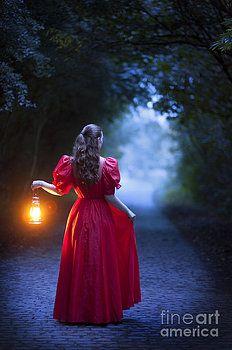 Woman Holding Kerosene Lantern Stock Image - Image ...