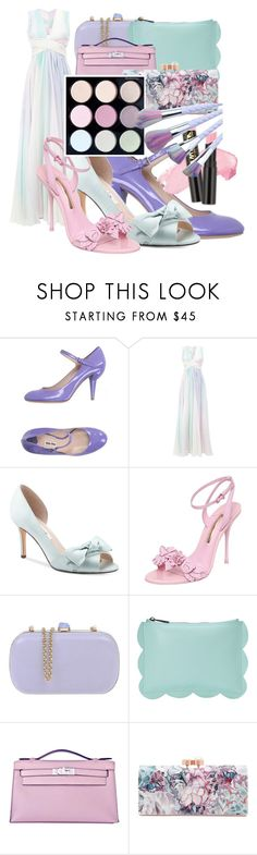 """""""Pastel Dreams"""" by storm-hawk ❤ liked on Polyvore featuring Miu Miu, Zuhair Murad, Nina, Sophia Webster, RED Valentino, Deux Lux, Hermès and Ted Baker"""