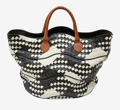 Bottega Veneta Black/White Tote