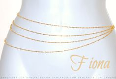 Fiona - Golden Waist Chain by DawlyLand.com Waist Jewelry, Body Chain Jewelry, Anklet Jewelry, Body Jewellery, Anklets, Cute Ear Piercings, Necklace Price, Jewelry Patterns, Indian Jewelry