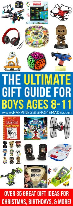 The Best Gift Ideas for Boys 8-11 - The Ultimate Gift Guide for Boys Ages 8-11 - Looking for gift ideas for an 8, 9, 10, or 11-year-old boy? Look no further! Only the very best of the best present ideas are included in this ULTIMATE gift guide for tween boys – perfect for birthdays, Christmas, and holidays!