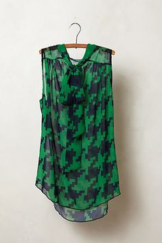 Bellamy Blouse in green motif