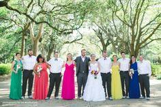 different color bridesmaids dresses