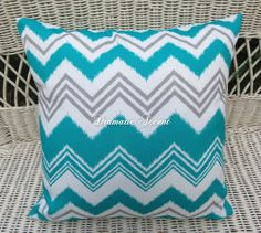 Chevron 2 Tone Color   Gray Teal Throw Pillow Cover U0026 Pink And Gray Zigzag    Outdoor/indoor Decorative Pillow   Square Zigzag Pillow