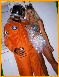 Couples Halloween Outfits, Cute Couple Halloween Costumes, Best Couples Costumes, Cute Costumes, Costumes For Women, Costume Ideas, College Halloween Costumes, Holiday Costumes, Costume Halloween Alien