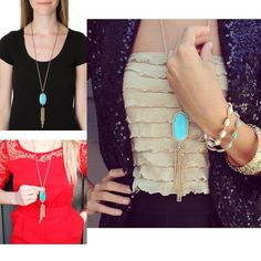 NWT TURQUOISE KENDRA SCOTT RAYNE NECKLACE Brand new! Adorable necklace! Gold and turquoise is super stylish and sophisticated✨ Don't miss out on this brand new with tags beauty! Will be shipped with the dust bag!! Kendra Scott Jewelry Necklaces