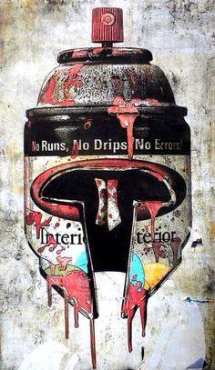 'Spartans of Krylon', Graffiti Art, Street Art, Pop Art, artist unknown.