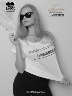 1ère Collection : SMOKE COMME GAINSBOURG -- Bientôt disponible.. Partagez #SmokeCommeGainsbourg #CommeDesGAINSBOURG #Fblogger #fbloggeuse #Models #blogger #Blog #Grazia #Vogue #People #Mannequin #EMILIAKLIMOWICZ #Stars #TendanceParisienne #Paris #LeFrancais #Pub #Bar #Club #Mode #LaMode #France #London #Newyork #Tokyo #Milan #Amsterdam#bientôt #disponible #instaFashion #Instablog #LasdasParis