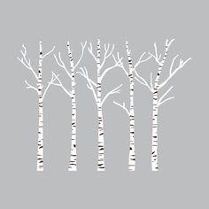 Birch Tree Silhouette Ideas For 2019 Birch Tree Wall Decal, Tree Decals, Wall Decals, Aspen Trees, Birch Trees, Birch Tree Tattoos, Wall Stickers Cars, Door Stickers, Tree Drawing Simple