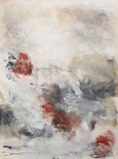 "Winter garden. 18x24"" oil on canvas. Abstract art by Sharon Kingston."