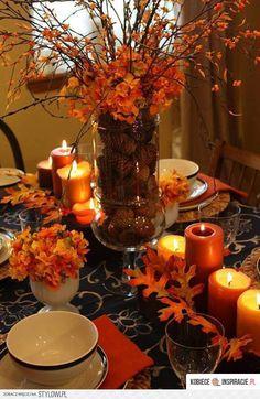 Jesienna dekoracja stołu - Kobieceinspira… na Stylowi.pl