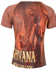 Plus size League of Legends t shirt for boys short sleeve 3D Shyvana pattern-