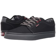 Vans Chukka Low ((Nintendo Check) Black/Gray) Men's Skate Shoes ($65) ❤ liked on Polyvore featuring men's fashion, men's shoes, men's sneakers, mens chukka boots, men's low top shoes, mens gray dress shoes, mens low top sneakers and mens chukka shoes