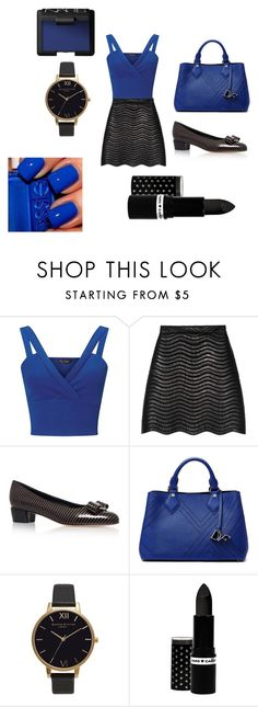 """""""Movie Night with Friends"""" by cvlacques on Polyvore featuring Miss Selfridge, Gucci, Salvatore Ferragamo, Diane Von Furstenberg, Olivia Burton, Hard Candy and NARS Cosmetics"""