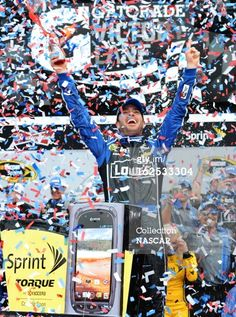 55th Daytona 500 Jimmie Johnson, driver of the #48 Lowe's Chevrolet, celebrates in victory lane after winning the NASCAR Sprint Cup Series Daytona 500 at Daytona International Speedway on February 24, 2013 in Daytona Beach, Florida. Photo by John Harrelson/NASCAR via Getty Images