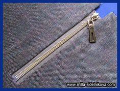 Молния без шва. Techniques Couture, Sewing Techniques, Zipper Tutorial, Pattern Fashion, Dressmaking, Sewing Patterns, Stitch, Handmade, Accessories