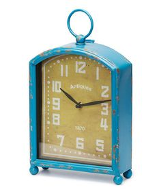 Take a look at this Navy Viola Wall Clock by Foreside on #zulily today! $30 !!