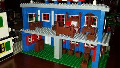 Inside the Lego Hotel.