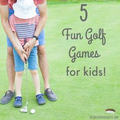 The Inspired Treehouse - 5 FUN GOLF GAMES FOR KIDS - Simple gross motor golf games: easy set-up and lots of fun! 10 Calming Techniques And Transition Strategies For Kids Golf Lessons For Kids, Golf Games For Kids, Golf Party Games, Golf Tournament Games, Kids Golf Clubs, Fun Games, Golf Cart Covers, Gross Motor Activities, Therapy Activities